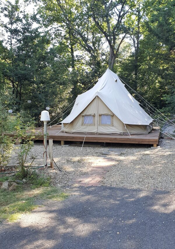GLAMPING IN THE WOODS